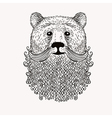 Sketch Bear with a beard Hand drawn Doodle style vector image vector image