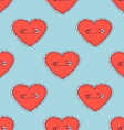 Sketch pinned heart vector image vector image