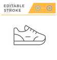 sneaker editable stroke line outline icon vector image vector image