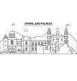 spain las palmas architecture line skyline vector image vector image