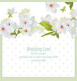 spring blossom flowers card dotted background vector image vector image
