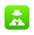 spy icon digital green vector image
