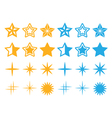 Stars yellow and blue stars icons set vector image vector image