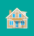 suburban family house countrysdie brick building vector image