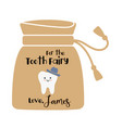 tooth fairy bag with a boy vector image