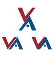 va letters logo designs vector image vector image