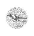 vintage sea plane vector image