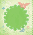 Vintage Summer Frame with Butterflies and vector image vector image