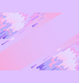 violet glitched background with copy space and vector image vector image