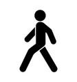 walk man icon vector image