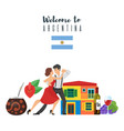 welcome to argentina template for web banner vector image