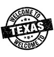 welcome to texas black stamp vector image vector image