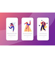 young people dancing on disco party concept vector image vector image