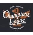 Championship league football typography Vintage vector image