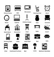 set of interior and decoration glyph icons 7 vector image
