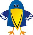 Raven cute cartoon vector image