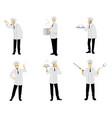 set of six chefs vector image