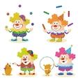 Cartoon circus clowns set vector image