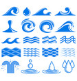 waves and water symbols vector image