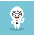 businessman cartoon showing ok sign hand gesture vector image