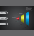 3d infographic template with cone vertically vector image vector image