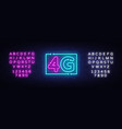 4g new wireless internet wifi connection neon sign vector image vector image