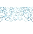 Abstract blue circles horizontal border seamless vector image vector image
