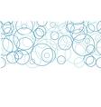 Abstract blue circles horizontal border seamless vector image