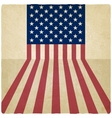 American flag old background vector image vector image