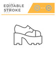 ankle boot editable stroke line outline icon vector image vector image