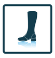 Autumn woman boot icon vector image