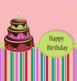 Birthday greeting template vector image vector image