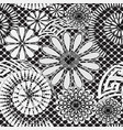 black and white floral lacy greek seamless vector image vector image
