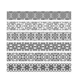 black borders with arabic pattern vector image vector image