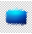 Blue baner with snowflakes vector image vector image