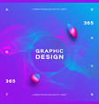 blue purple background trendy fluid poster design vector image vector image