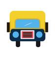 bus flat multi color vector image vector image