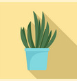 cacti pot icon flat style vector image vector image