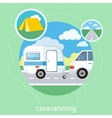 Caravaning tourism vector image vector image