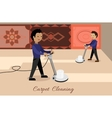 Carpet Cleaning Concept in Flat Design vector image vector image