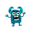 cartoon flat monsters icon colorful kids toy cute vector image