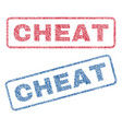 cheat textile stamps vector image vector image