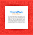 cinema movie paper template vector image vector image