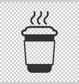 coffee tea cup icon in flat style coffee mug on vector image