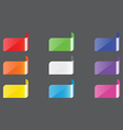 colors label vector image