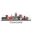 concord new hampshire city skyline with gray vector image vector image