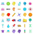 creative business icons set cartoon style vector image vector image