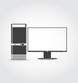 Desktop icon vector image vector image
