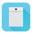 dishwasher flat design blue icon vector image