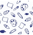Doodle tools seamless pattern vector image